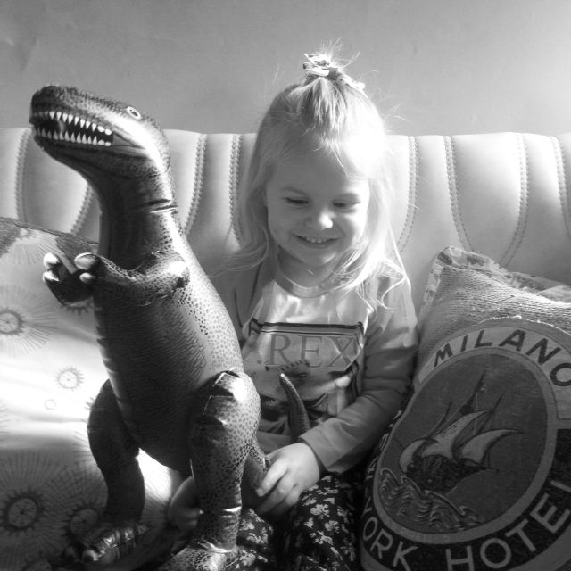 my gorgeous dinosaur loving girl...