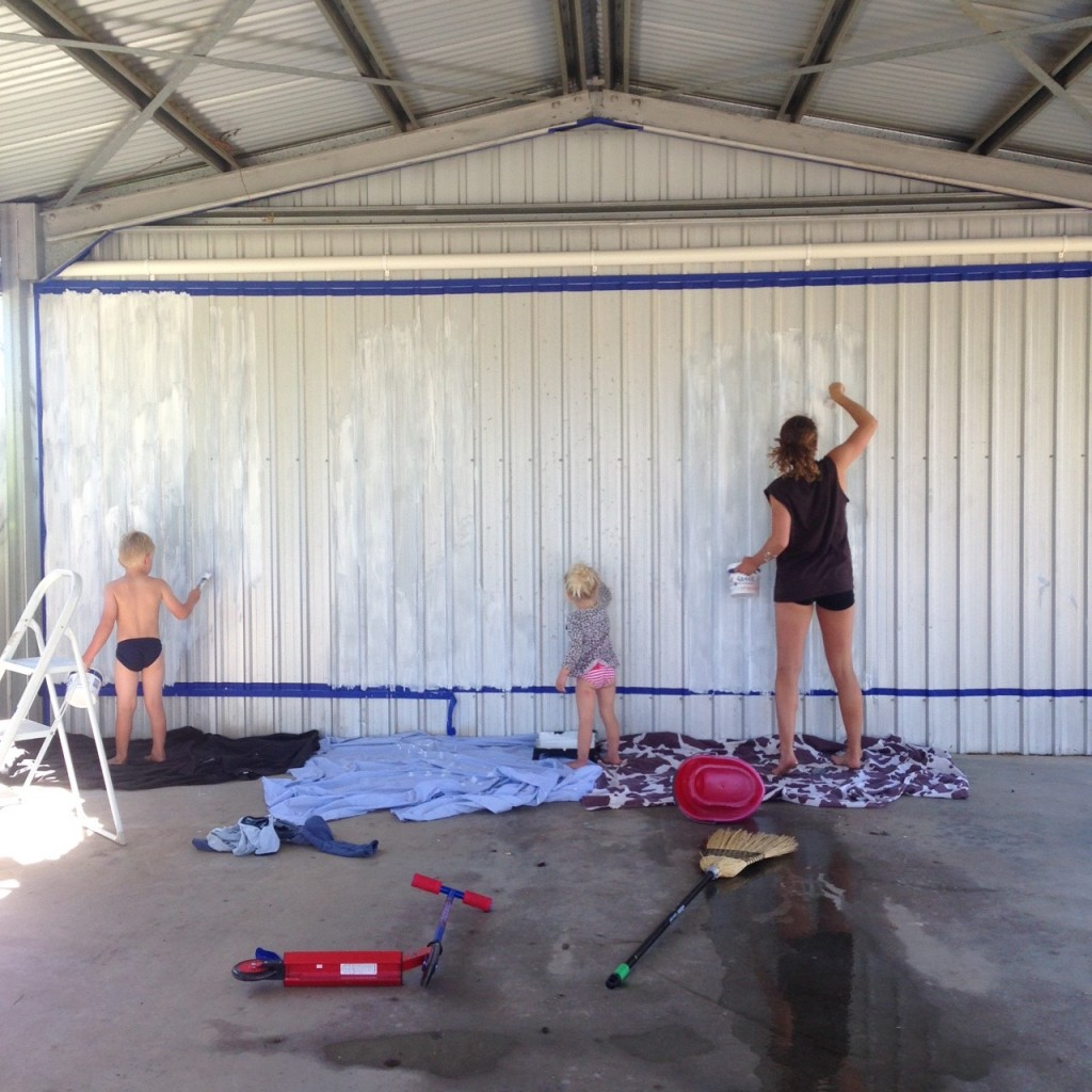 prepping our boring garage!