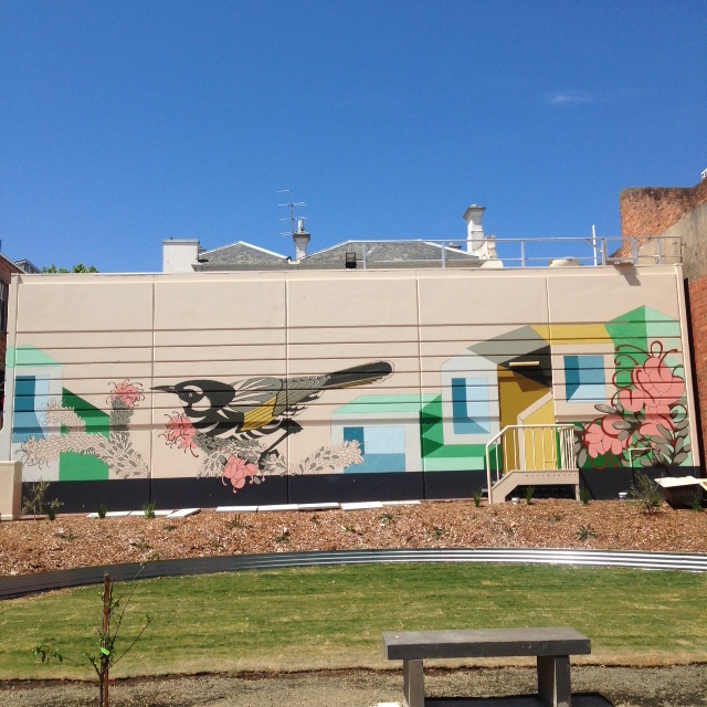 The almost complete pocket garden & mural